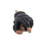 Main gauche gantée mitaine (Noir)