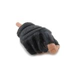 Main droite gantée mitaine (Noir)