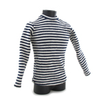Pull tricot rayé (Blanc)