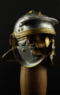 Museum Collection - Roman Imperial Gallic Model H Die Cast Helm (Silver Version)