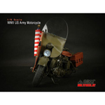 Moto Harley-Davidson US Army WWII Die Cast (Endommagé)