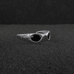 Silver tactical sunglasses