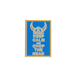 Patch Keep Calm And Chop The Head (Bleu)