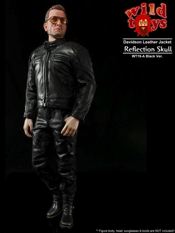 Set vêtements en cuir Davidson Reflection Skull Homme (Noir)