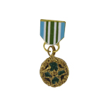 Diecast Commendation Medal (Gold)