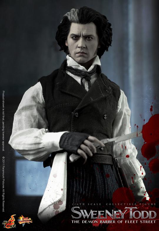 Hot Un Stock >> Figurine 1/6 Sweeney Todd Le diabolique barbier de Fleet Street - Machinegun.fr