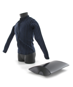 Chemise à rayures avec emballage (Bleu)