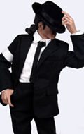 Set Michael Jackson Smooth Criminal (Noir)