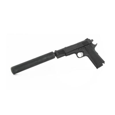 M1911.45 Pistol with suppressor Art Figures - Machinegun M1911 Suppressed