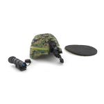 LWH Helmet with Woodland Marpat Helmet Cover NVG mount and PVS-14 NVG