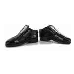 Black varnish shoes