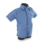 Chemise de prisonier bleu