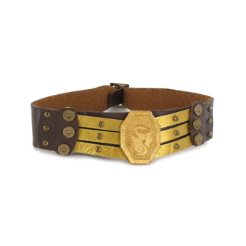 Ceinture de protection en cuir (Marron)