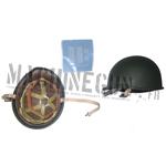 Metal helmet w/ captain insignia