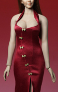 Set robe asiatique Cheongsam (Rouge)