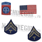 82nd Airborne T/5 insignia set