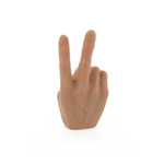 Right hand V sign