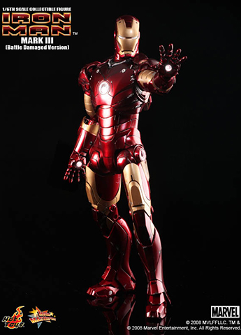 Iron Man - Iron Man Mark III (Battle Damaged Version)