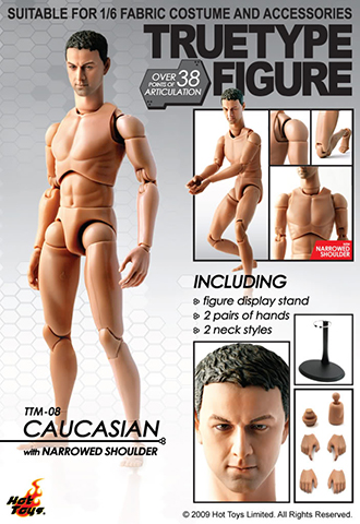 True Type Figure - Caucasian (Narrowed Shoulder)