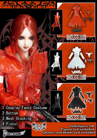 Red cosplay fancy costume