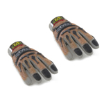 Mains gantées Mechanix flexibles (Marron et Gris)