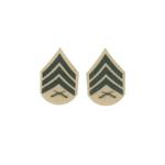 USMC Service Shirt Sergeant Rank Insignia (Beige)