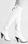 Female Leather Boots (White)