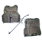 SMOKE GREEN-SG RAV Releasable Assault Vest with back panel