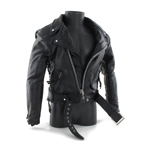 Battle Damaged Leather Jacket (Black)