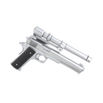 Extended Colt 45 with Laser Sight (Silver)