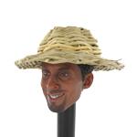 Medium Size Straw Hat (Beige)