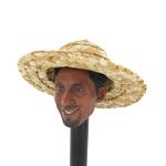 Large Size Straw Hat (Beige)