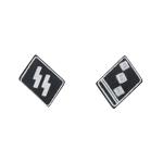 Obersturmführer Elite Collar Tabs (Black)