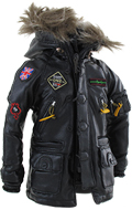 Leather Polar Jacket (Black)