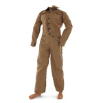 Construction brown coverall