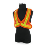 Contruction orange reflective vest