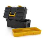 Construction toolbox with removable tray