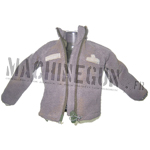 Foliage green fleece jacket