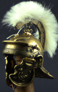 Museum Collection - Casque Optio Imperial Gallic Model H Die Cast (Bronzed Version)