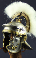 Museum Collection - Optio Imperial Gallic Model H Die Cast Helm (Silver Version)
