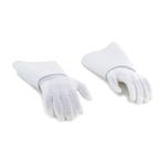 Paire de mains flexibles gantées avec plastron (Blanc)