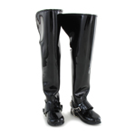 Knee-Length Jackboots with Die Cast Spurs (Black)