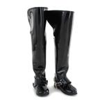 Bottes Jackboots avec éperons en métal (Noir)