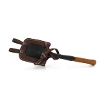 Wood Leather and Die Cast M1898 Shovel with M1909 Carrier (Brown)