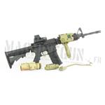 M4A1 Aimpoint scope w/ EO Tech visor & AN PEQ 15