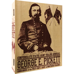 Wooden Major General George E. Pickett CSA Empty Box (Beige)