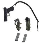 Glock 17 + chargeurs + porte chargeur ceinture