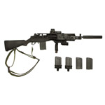 M14 SOCOM rifle w/ selencer and mag