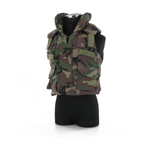 Woodland camo body armor