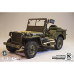 Jeep Willys MB en métal (Olive Drab)